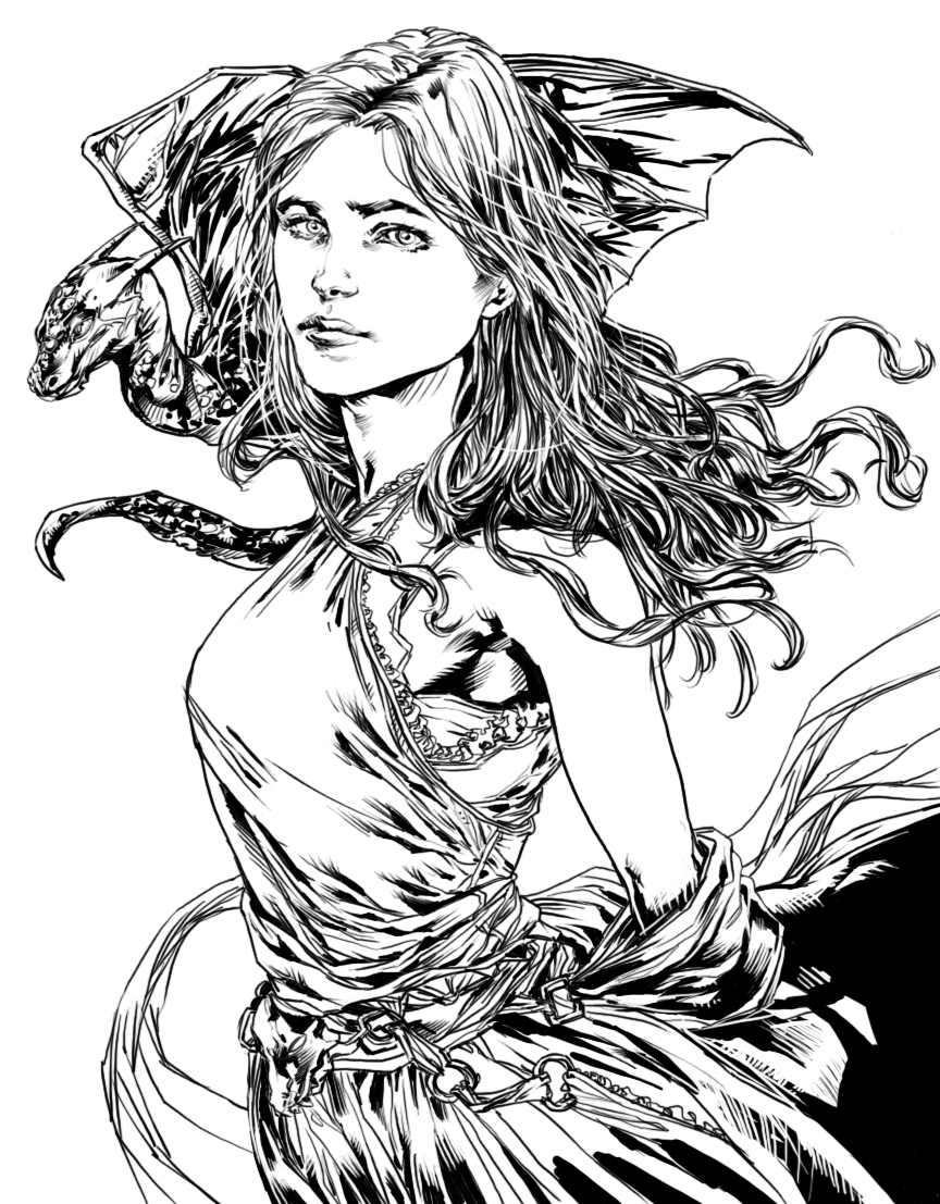 game of thrones coloring pages khaleesi - photo #11